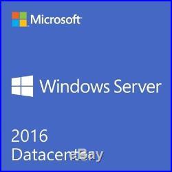 Windows Server 2016 DATACENTER Core+RDS 50 User + 50 Device CALs (3 Licenses)