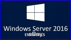 Windows Server 2016 Essentials License+Full Retail +Download Link+ Fast Delivery