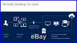Windows Server 2016 RDS CAL 5 User CAL License KeyRemote Desktop Services