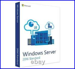 Windows Server 2016 Standard Edition with 5 CALs. New, complete, retail