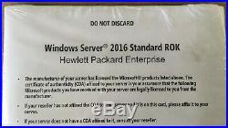 Windows Server 2016 Standard ROK 16 Core Hewlett Packard Enterprise NEW