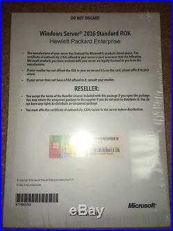 Windows Server 2016 Standard ROK HPE