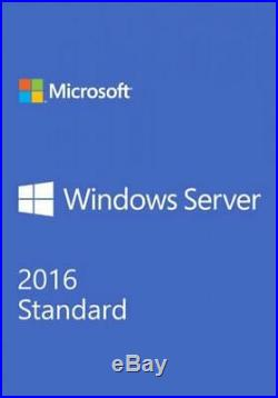 Windows Server 2016 Standard Unlimited Cores, with50 CALs, 3 Hour Digital Delivery