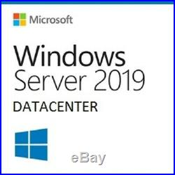 Windows Server 2019 Datacenter 16 Core Full License Retail COA included