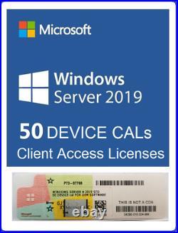 Windows Server 2019 Datacenter 64BIT 2CPU 16C VMs DVD & COA + 50 DEVICE CAL
