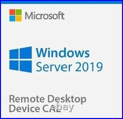 Windows Server 2019 Datacenter + Remote Desktop Services 50 RDS User/Device CALs