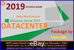 Windows Server 2019 Datacenter +retail+core License+full Product+esd