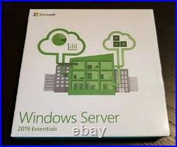 Windows Server 2019 Essentials Factory Sealed Retail DVD Box SKU G3S-01184