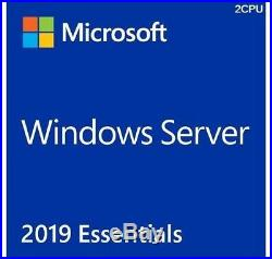 Windows Server 2019 Essentials Retail Sealed 25 Users / 50 Devices