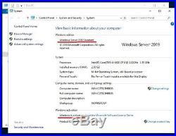 Windows Server 2019 OEM Standard OEM pack