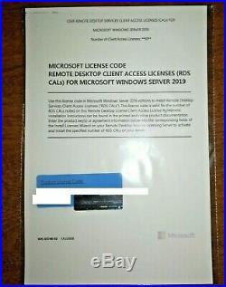 Windows Server 2019 Remote Desktop Services CALs 50 User RDS CALs