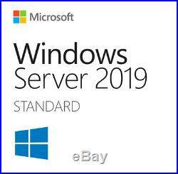 Windows Server 2019 StandardDatacenter x64 License 16 Core + 25 CAL + Install