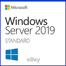 Windows Server 2019 Standard 16 Core Full License Retail COA & 25 USER CAL