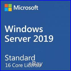 Windows Server 2019 Standard 16 Cores License AND 50 User Cal