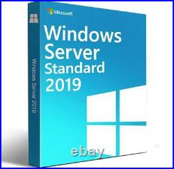 Windows Server 2019 Standard Edition with 5 CALs. New, complete, retail
