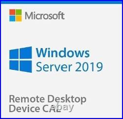 Windows Server 2019 Standard + Remote Desktop Services 50 RDS User/Device CALs