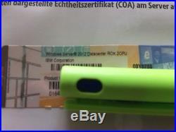 Windows Server Datacenter 2012 DVD 2CPU / IBM ROK DE Vollversion, MwSt Rechnung