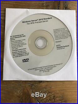 Windows Server Standard 2016, DVD Deutsch / Englisch, 16 Core, HP, MwSt Rechnung