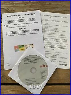 Windows Server Standard 2016 Fujitsu OEM Vollversion Multi16 Core, MwSt Rechnung