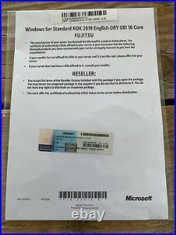 Windows Server Standard 2019 Fujitsu OEM Vollversion Multi16 Core, MwSt Rechnung