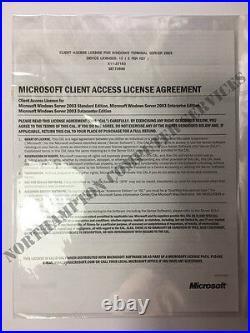 Windows TS Terminal Server 2003 20 (2x10CALs) CALS Remote Desktop RDS VAT