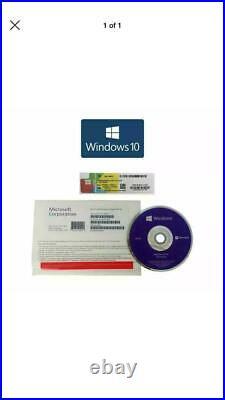 X10 PACK Microsoft Windows 10 Pro Professional 64Bit DVD Disk & COA Builder Pack